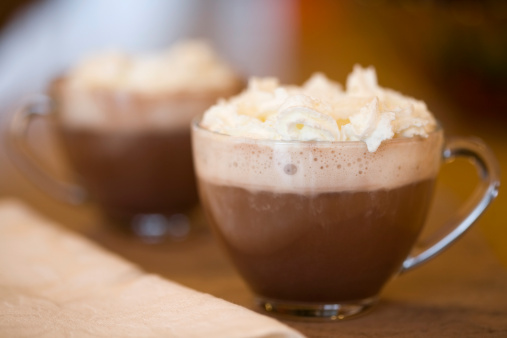 healthy brain with hot chocolate