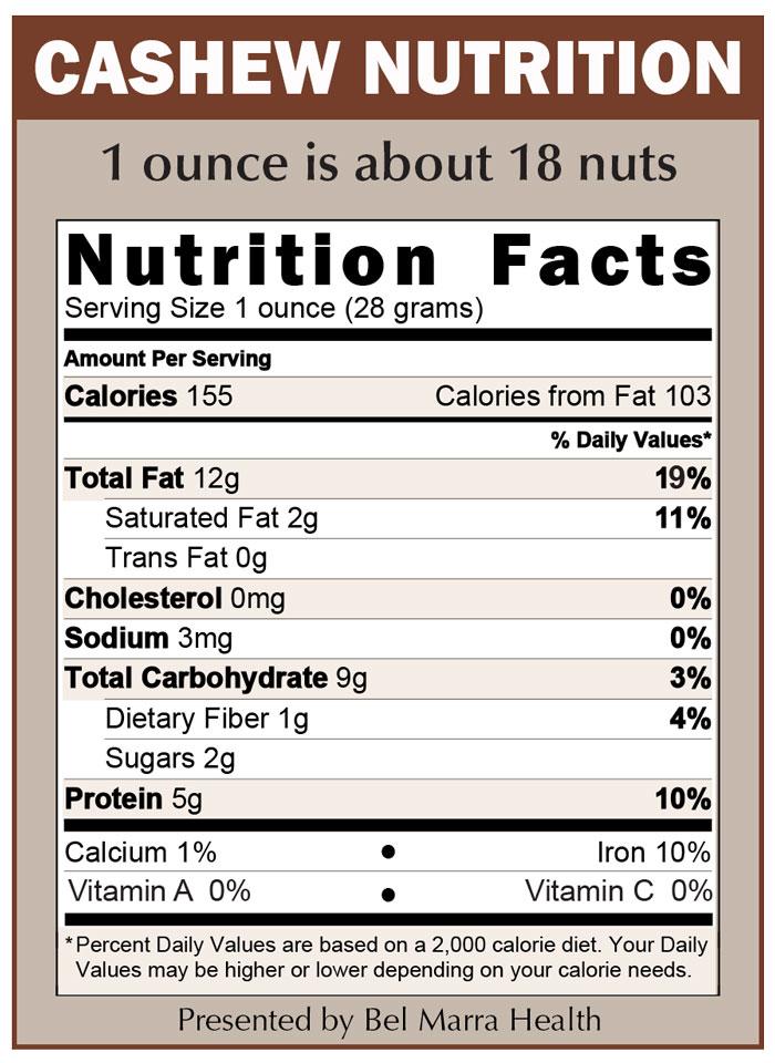 Nutrition in cashew
