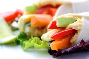 Hummus-Veggie Wrap recipe