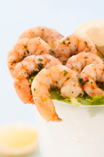 Shrimp with Green Cocktail Sauce