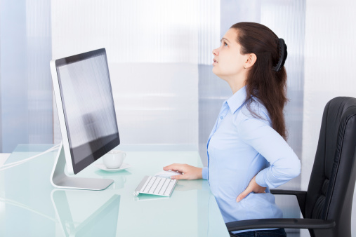Sedentary sitting at a computer and vascular health