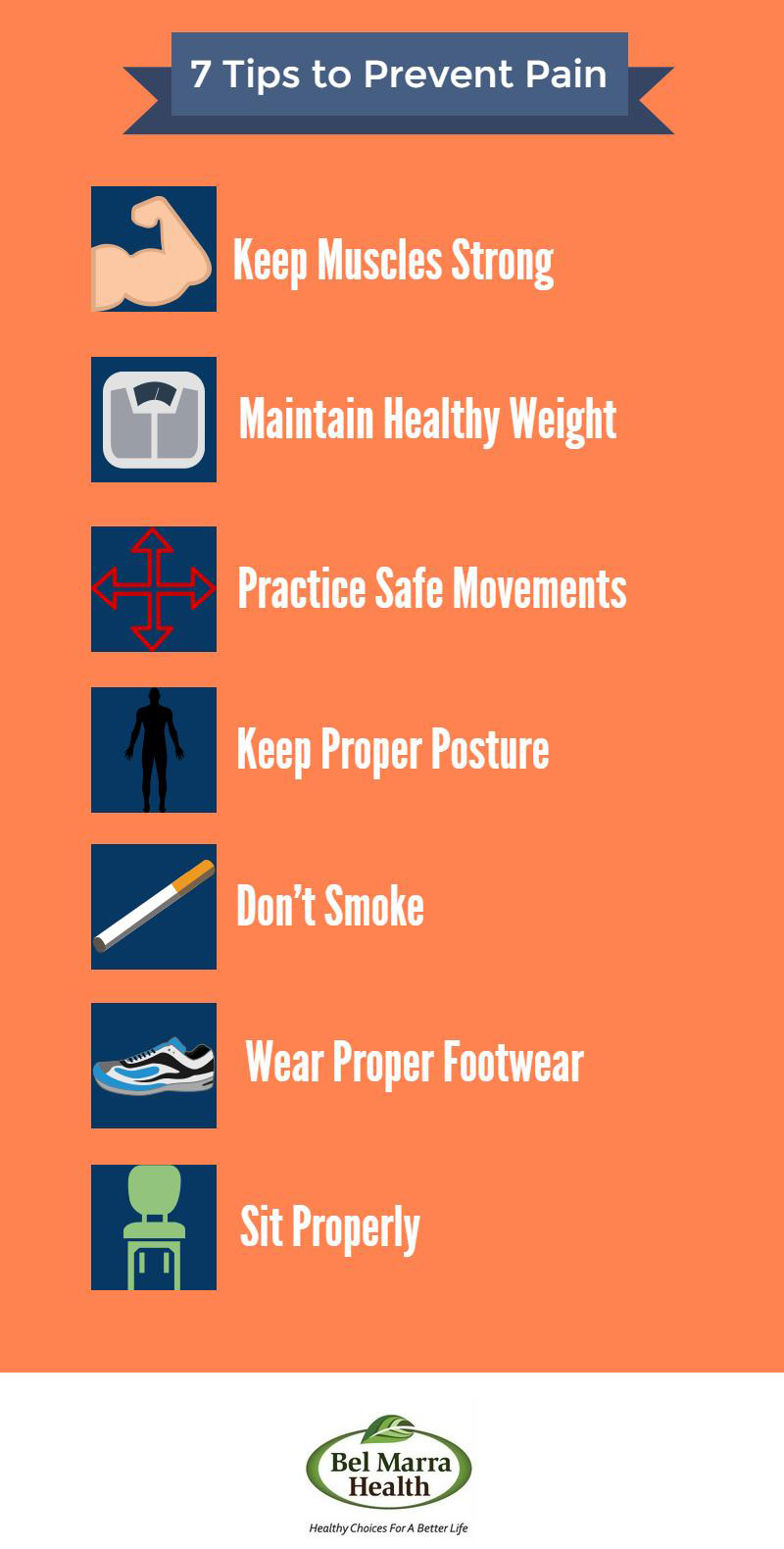 Infographic – Tips to Prevent Pain