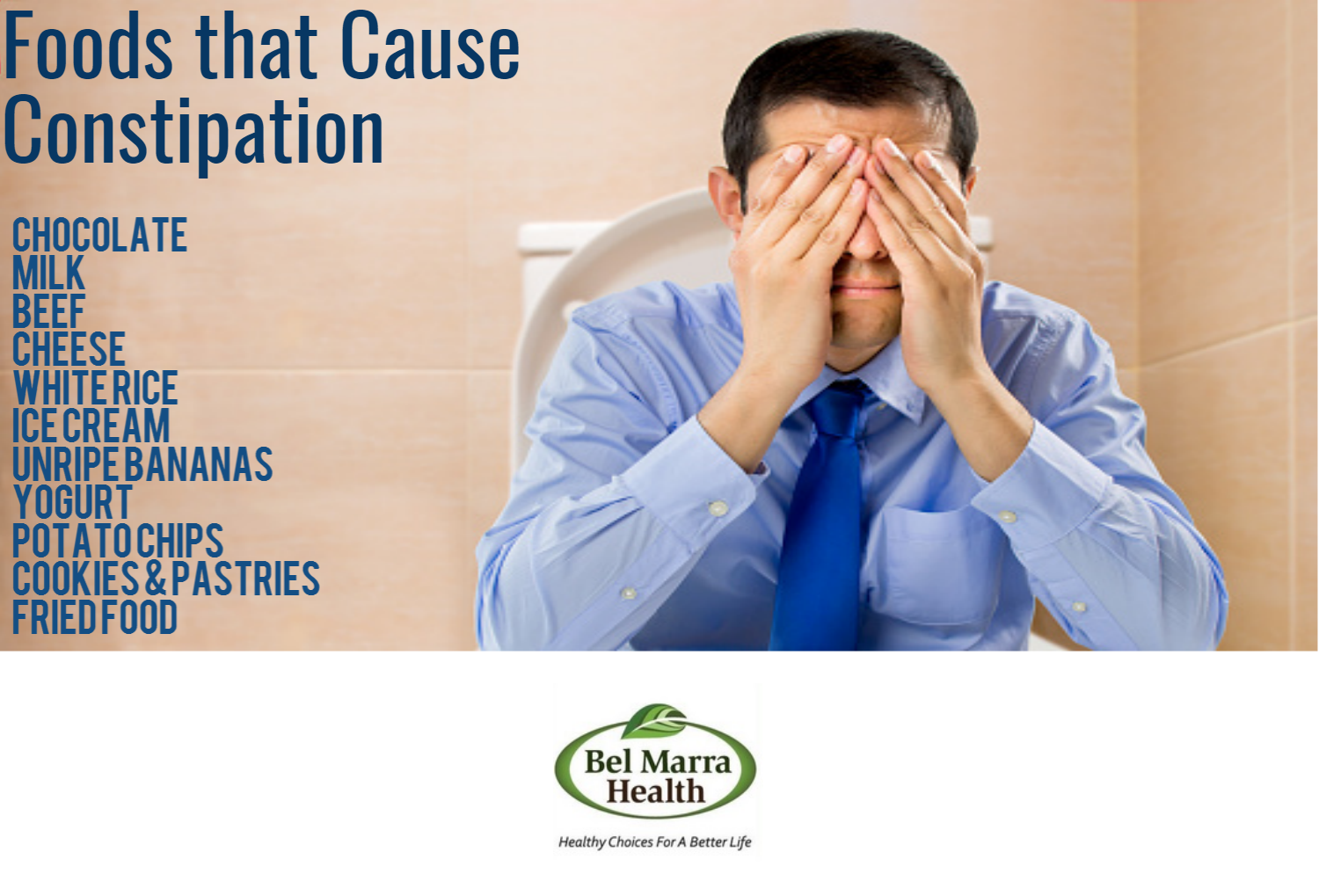 Infographic – Foods that cause Constipation