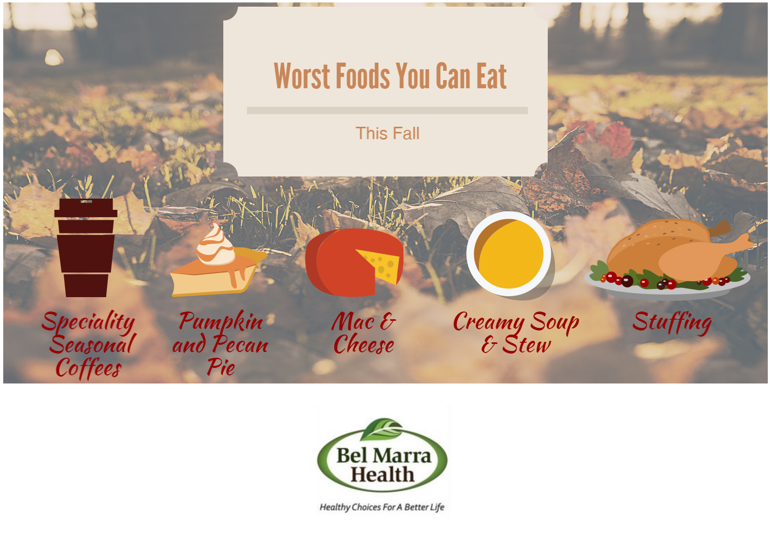 Infographic – Worst fall foods you can eat