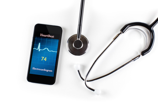 iPhone and new device to replace stethoscopes