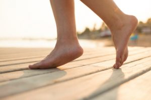 Walking barefoot indoors prevents plantar fasciitis, shin splints, bursitis and tendinitis