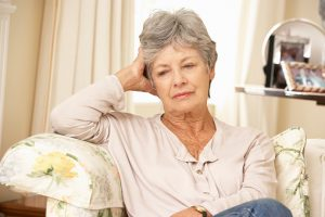 Estrogen hormone fluctuation during menopause increases sensitivity to stress, depression
