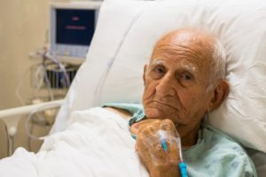 Aspiration pneumonia (inflammatory lung infection) risk factors include dementia and dehydration