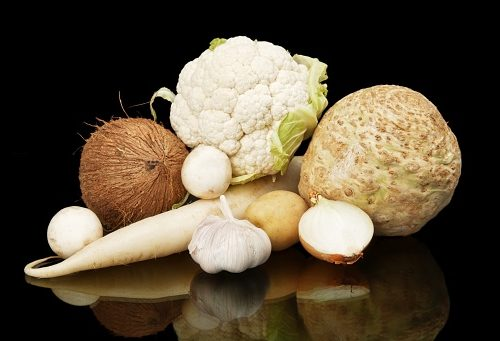 white fruit and vegetables good for stomach