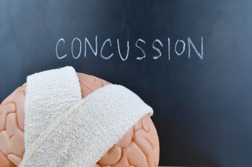 Concussion (traumatic brain injury) and head impact may accelerate brain aging
