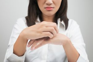 eczema like inflammation caused by staph bacteria infection