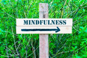 MINDFULNESS Directional sign