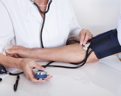 can blood pressure be taken lying down