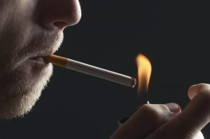 Crohn's disease relapse risk with smoking