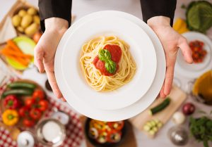 pasta can actually lower body mass index when consumed in moderate amounts and lower the chance of obesity.