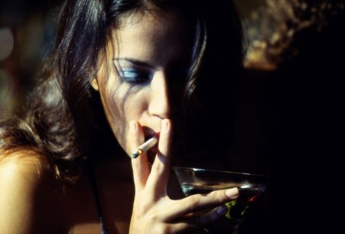 Smoking cessation means less drinking…?