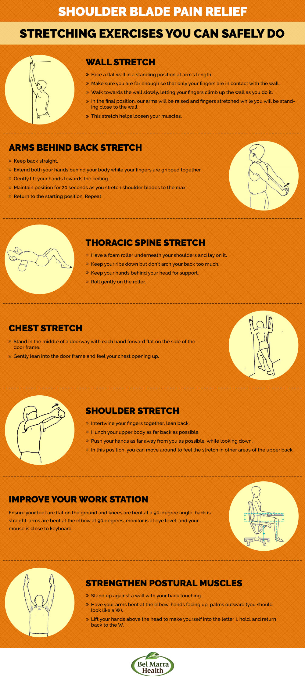 Infographic – Shoulder Blade Pain Stretches