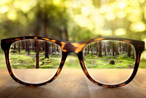 blurred vision glasses