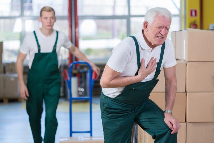Heart failure accelerates aging process