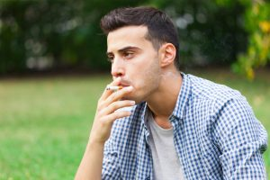Heart wall thickens due to smoking, contributes to heart failure