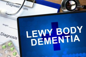 Lewy body dementia, an umbrella term for both Parkinson's disease dementia and dementia with Lewy bodies
