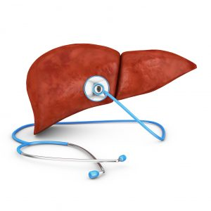 liver and a stethoscope