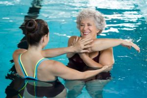 In multiple sclerosis women, yoga and aquatic exercises reduce fatigue, depression, and paresthesia