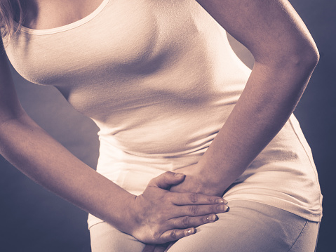 Pain in lower abdomen after peeing pregnant