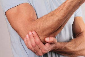 Gout in elbow