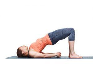 bridge pose yoga bladder