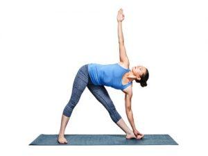 yoga triangle pose bladder
