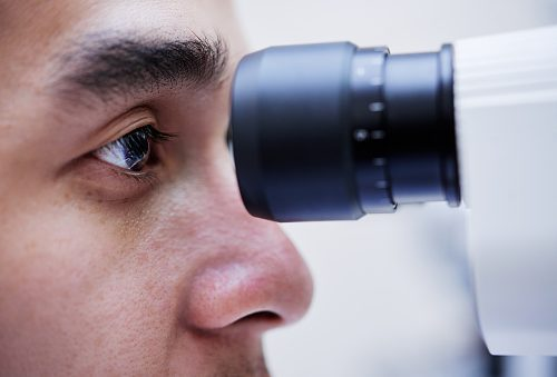 Glaucoma eyesight examination