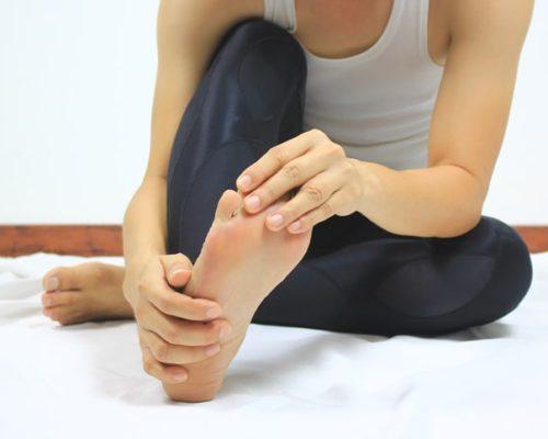 toe cramp
