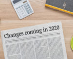 A newspaper on a desk with the headline Changes coming in 2020