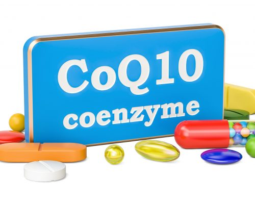 Coenzyme Q10 concept, 3D rendering isolated on white background