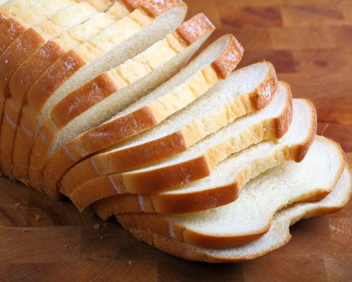 Loaf of butter milk white Bread