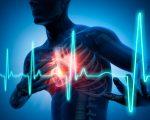 3D Rendering - Schmerz im Brustkorb - Herzanfall - Medizinische Illustration