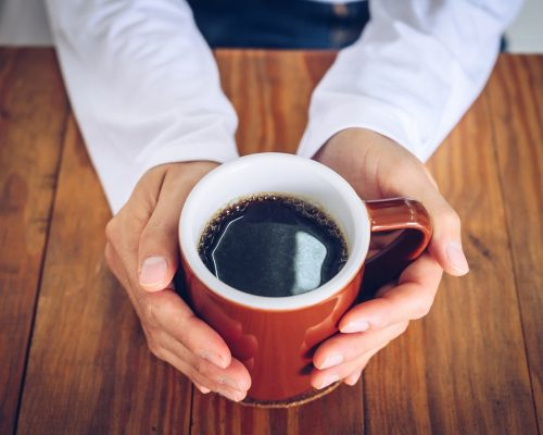 Black coffee is simply coffee that is normally brewed without the addition of additives such as sugar, milk, cream or added flavours.